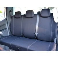 Wetseat Seat Covers to suit Ford Ranger PX2, PX3 | Rear Row Only | BLACK  Base/BLUE Stitching