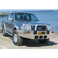 ECB Black Ripple Big Tube Bullbar for FORD COURIER 2WD/4WD 11/02 - 10/06 (BF64SYB)