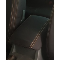 Wetseat Seat Covers to suit Ford Ranger PX1 | Centre Console | BLACK  Base/WHITE Stitching