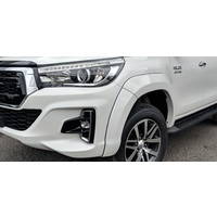 EGR Silver Sky Full 6 Piece Set Fender Flares for Toyota Hilux  8/2018 on