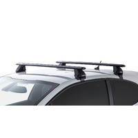 Rhino Rack Vortex  Black 2 Bar Roof Rack for PEUGEOT 208 GTi 3dr 08/13 On | Hatch |  JA6410
