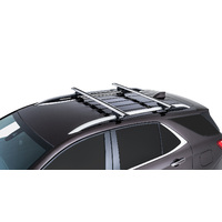 Rhino Rack Vortex SX Silver 2 Bar Roof Rack for AUDI A6 C5/4F 4dr 10/98 to 07/05 | Wagon | With Roof Rails JA9140