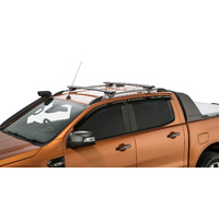 Rhino JA9141 Vortex SX Black 2 Bar Roof Rack for FORD Ranger PX 4dr 06/12 On | Ute | Double Cab (With Roof Rails)