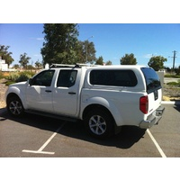 EGR Arctic White Premium Canopy for Nissan Navara D40 Dual Cab with Slide/Lift side windows