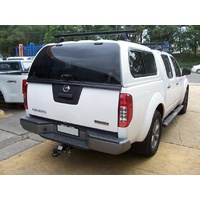 EGR Arctic White Premium Canopy for Nissan Navara D40 Dual Cab with Slide/Slide side windows