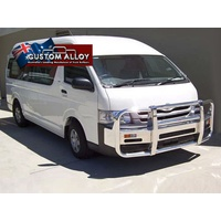 ECB Black Ripple 2 Post Alloy Bullbar for TOYOTA HIACE XLWB 03/05 - 02/14 (P2TO1021SYB)