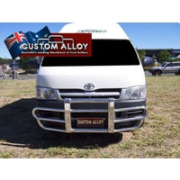 ECB Black Ripple 2 Post Alloy Bullbar for TOYOTA HIACE LWB 02/05 - 02/14 (P2TO1051SYB)