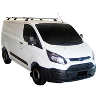 Whispbar Silver 3 Bar Roof Rack for Ford Transit 4dr Van 14- (T18W+T18WHalf & K780)