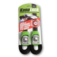 Canoe|Kayak|SUP|Surf Board| Lockable Tiedowns 1 x set of 2.5M / 8FT Kanulock